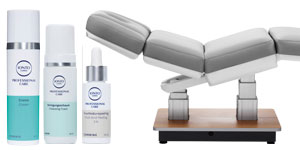 Wellnessliege IONTO-SPA Sensity und Kosmetikserie IONTO-COMED Professional Care