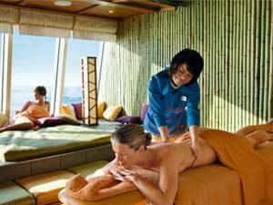 Massagebehandlung auf einem Kreuzfahrtschiff