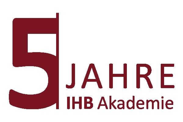 Logo 5 Jahre IHB Akademie Jubiläum rot