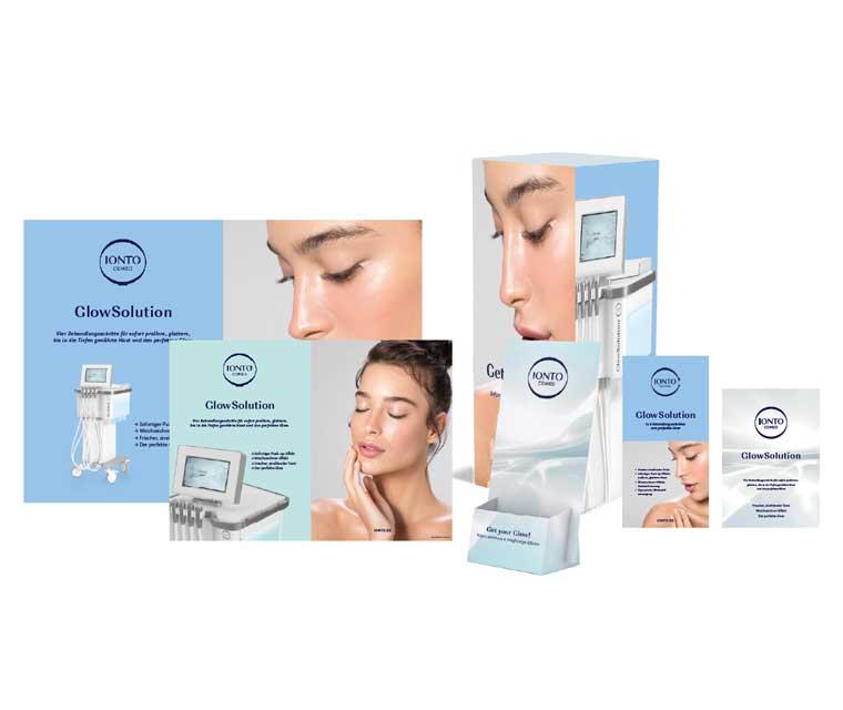 GlowSolution Werbepaket mit Plakaten, Aufsteller, Flyer