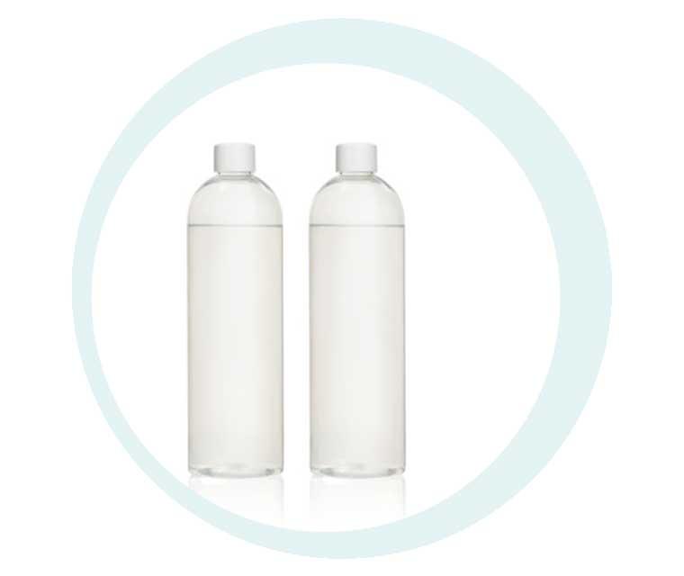 Wirkstoffflüssigkeiten in Flaschen für das Kosmetikgerät GlowSolution von IONTO-COMED